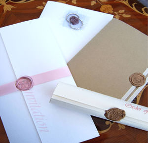 wax sealed wedding invitaions